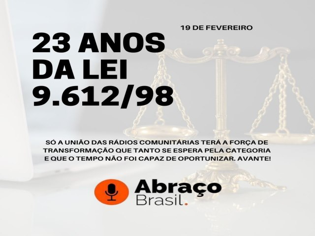 23 anos da Lei 9.612/98
