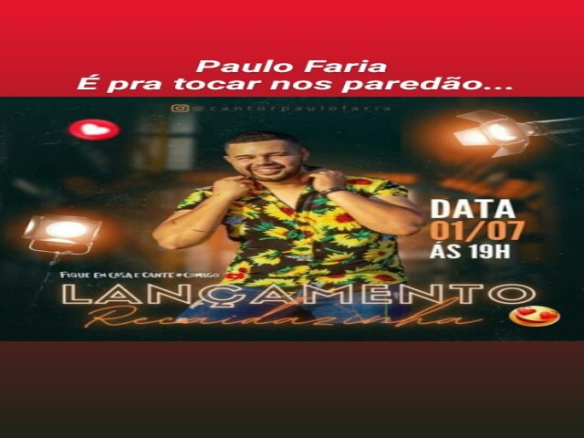 PAULO FARIA RECAIDAZINHA NOVO SUCESSO DO PISEIRO ESTÁ AI